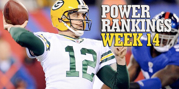 Week Fourteen Power Rankings